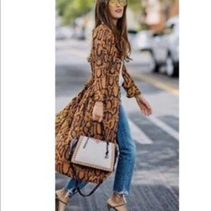 NWOT Zara Snake Print Dress
